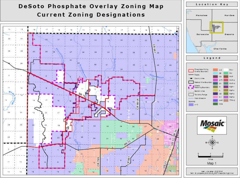 DeSoto phosphate overlay zoening map current zoning destinations.