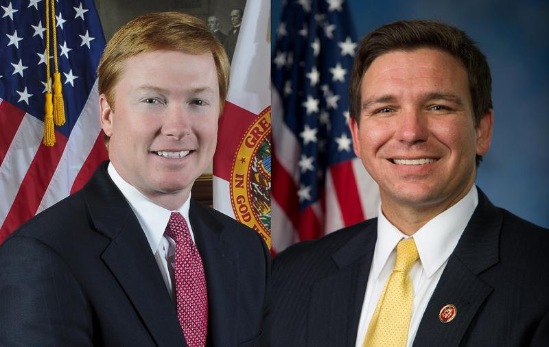 Adam Putnam (left), Ron DeSantis (right)