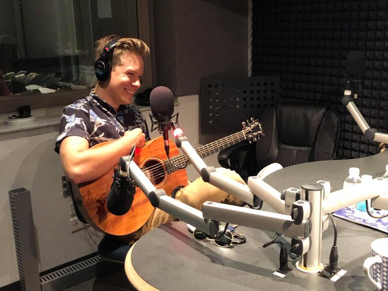 Matt Walden performing live in studio at WGCU-FM