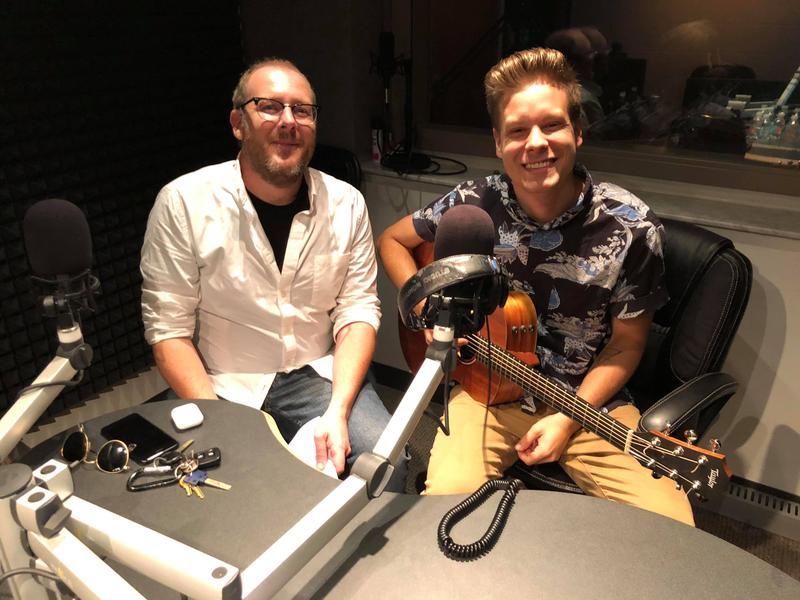 WGCU's John Davis (left) with singer/songwriter Matt Walden (right)