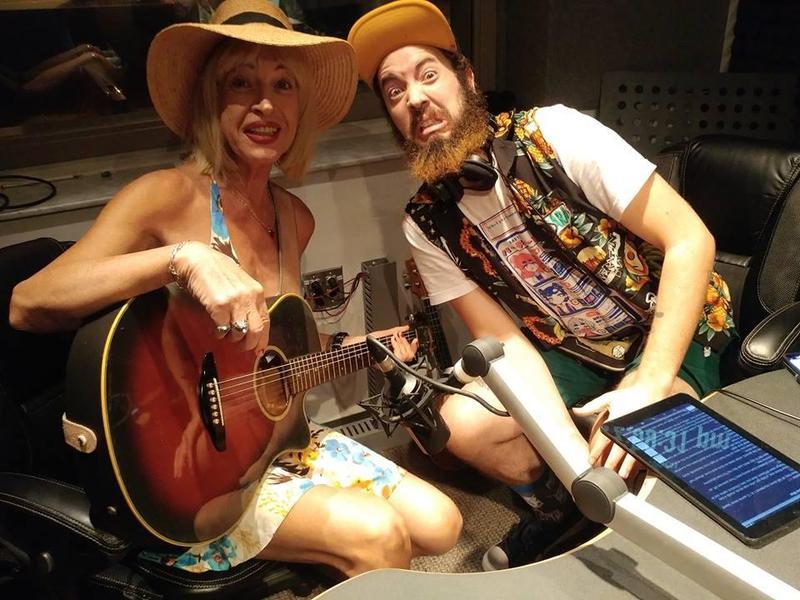 Kiki Lane and Duke Spencer in the Gulf Coast Live studio.