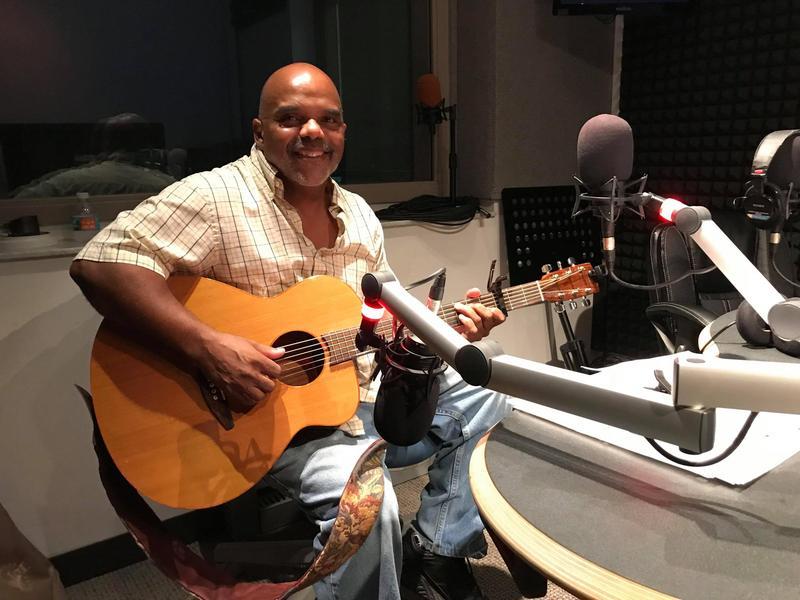 Bill Metts in the WGCU-FM Studios