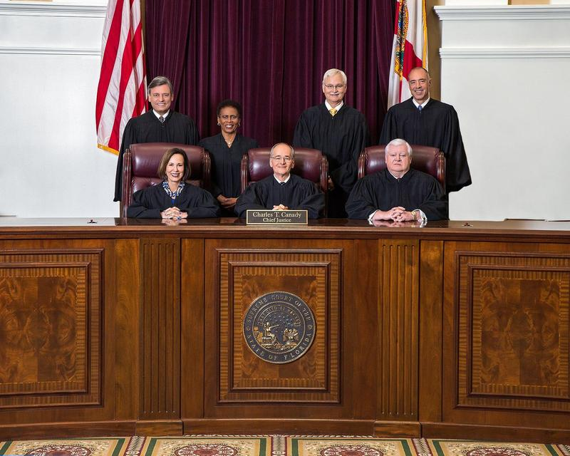 Florida Supreme Court in 2018 under Chief Justice Charles Canady