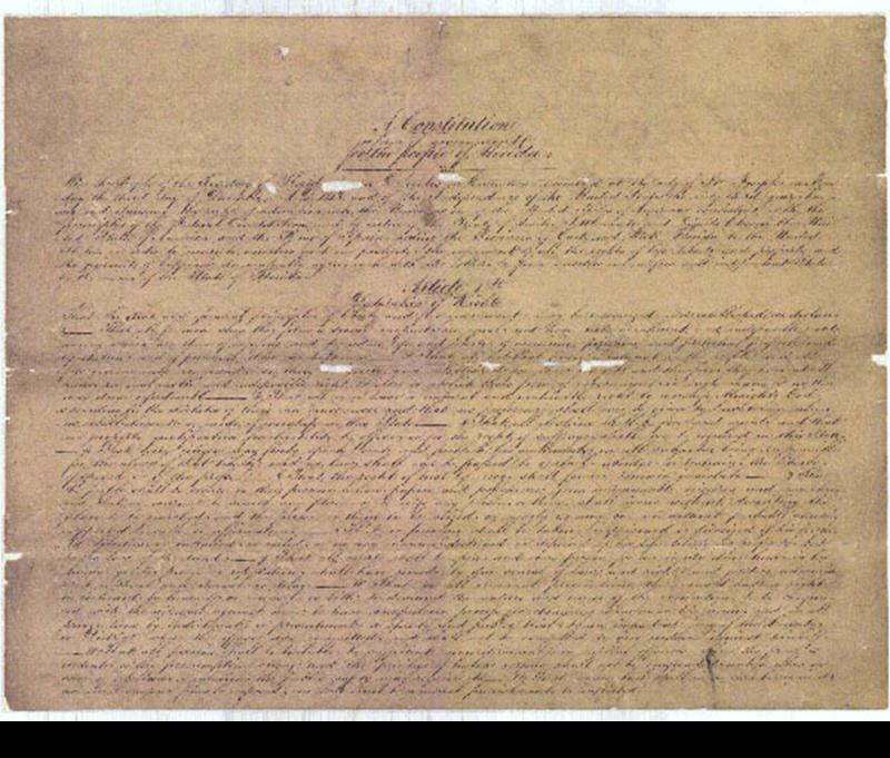 1838 Florida Constitution