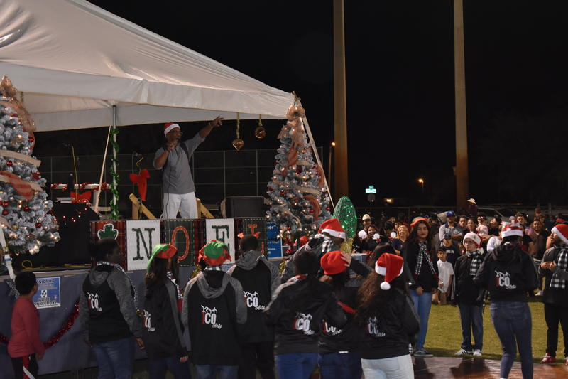 The Christmas Around the World festival featured music played by a DJ and live perfomances from local dance groups like Ico Arts.