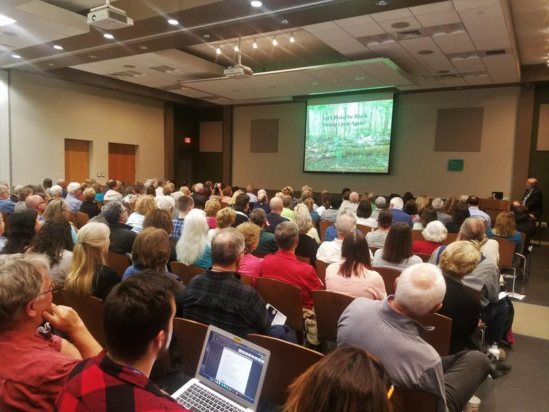 Dr. William Mitsch at the first Moon Light on the Marsh Distinguished Lecture Series event of 2019, spoke about his research findings about the cause of red tide on Jan. 10.