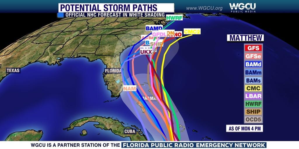 Hurricane Matthew Shifting West May Not Miss Florida