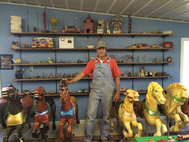 Chuck Wright, owner of Castle Gardens Carousel, Lexington, IL