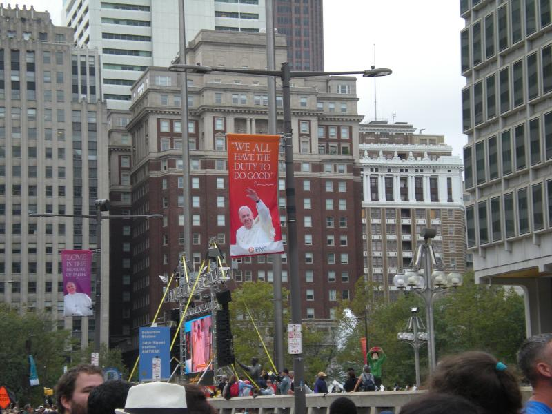 Banners adorned the parade route