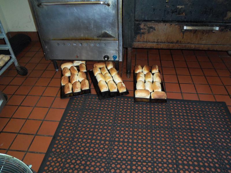 Bread on a floor