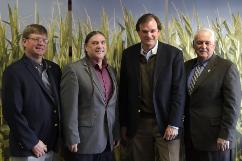(From left) ICGA Vice President Jeff Jarboe, USDA Conservationist Ivan Dozier, USDA Undersecretary Robert Bonnie, ICMB Vice Chairman Tom Mueller