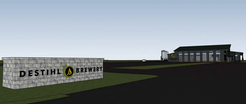 A view of the front of the proposed Destihl Brewery