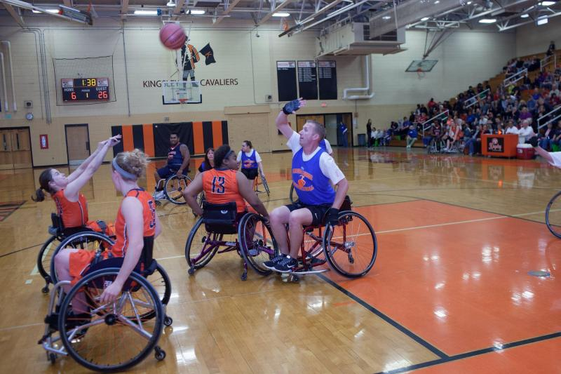 Life Center for Independent Living sponsors such activities as basketball teams for the wheelchair-bound.