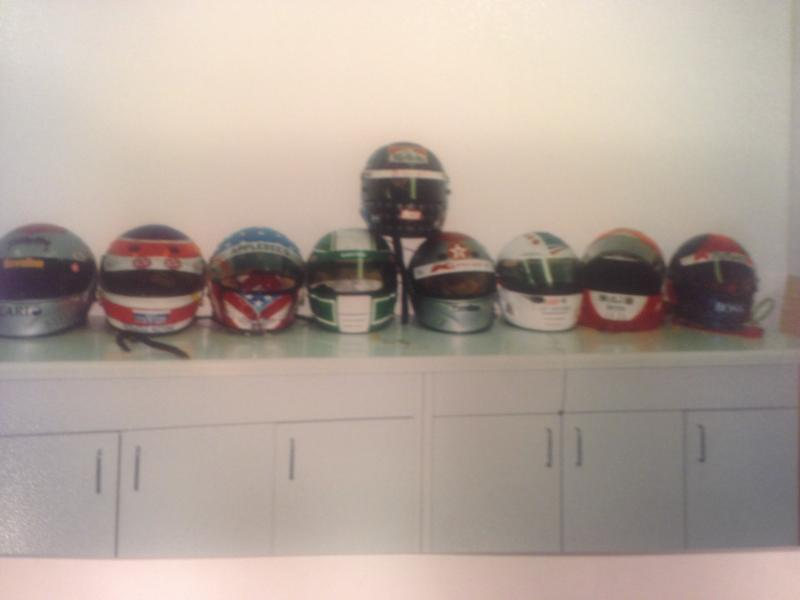 Helmets from famed drivers sent to the hospital on one extremely cold race day. Dr. James Nevin said one driver even crashed on the parade lap from tryng to spin his tires to warm them up.