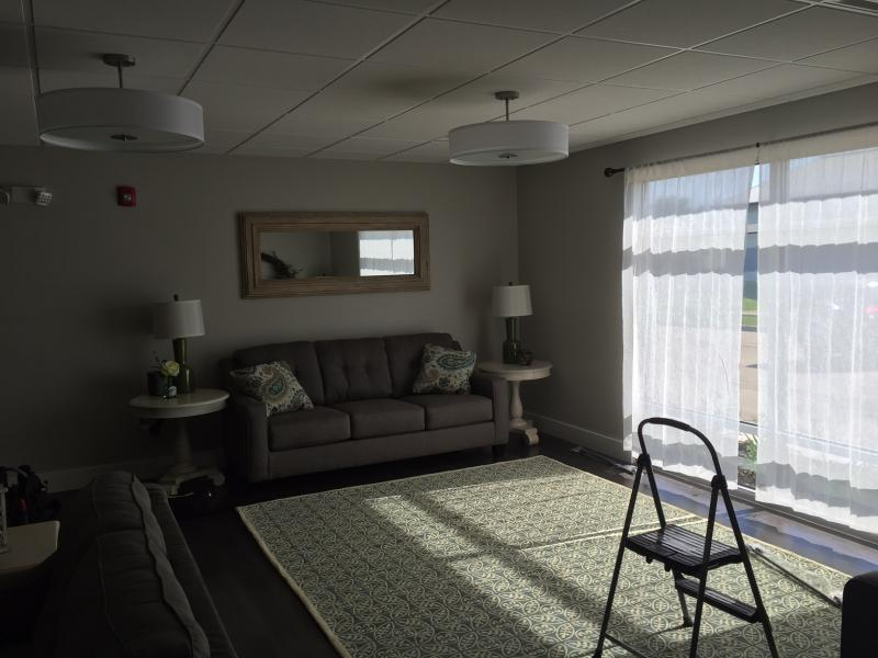 The finishing touches are being applies to the living area.