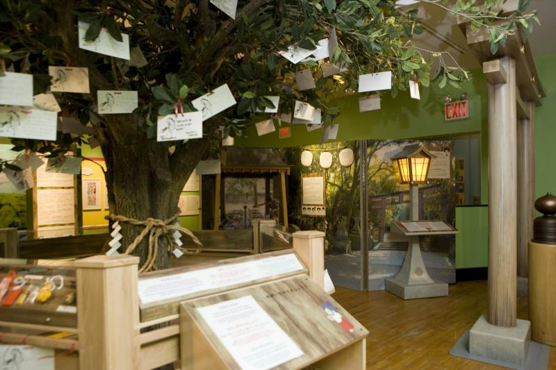 The Shinto area of the exhibit.