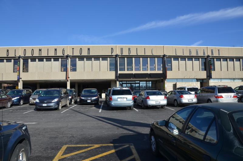 Bloomington Public Library, located near City Hall and the Bloomington Police headquarters.
