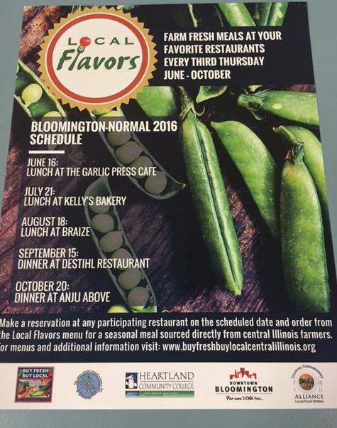 Poster for Local Flavors events.