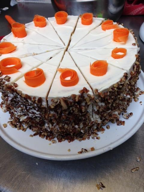 Photo of two-level carrot cake