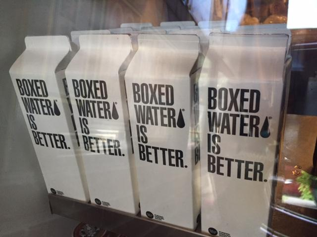 Water in cardboard containers