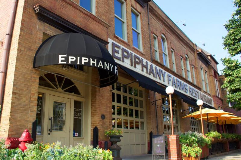 Epiphany Farms Restaurant and Anju Above, on Front Street, in Bloomington