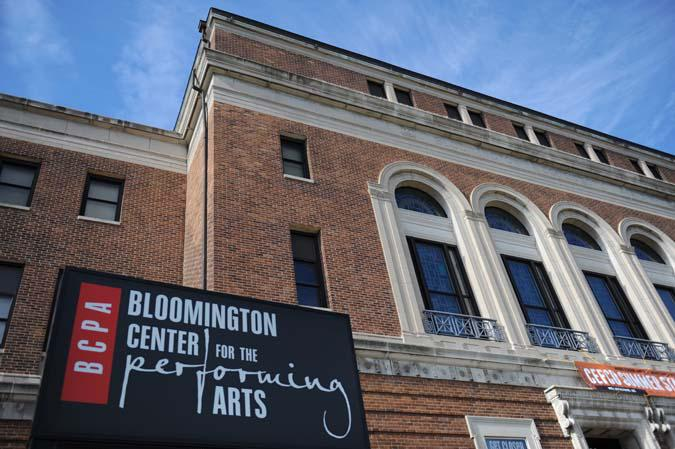 The Bloomington Center for the Performing Arts on the north end of downtown Bloomington.