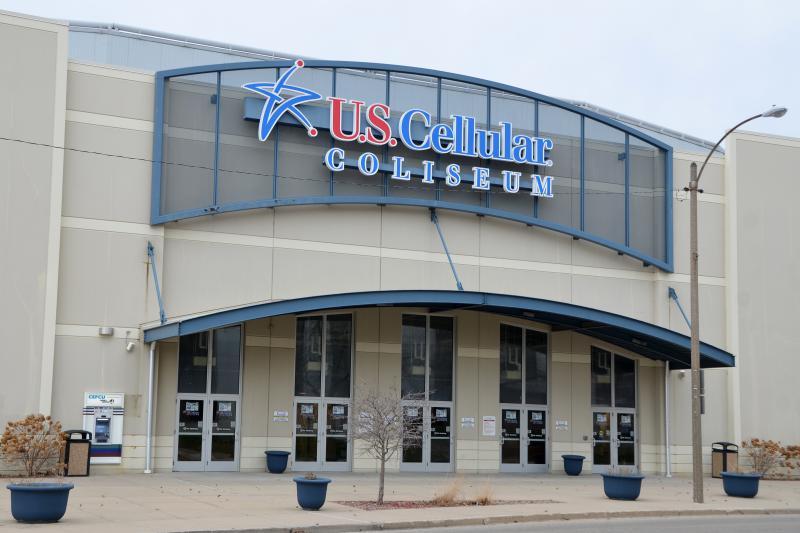 The U.S. Cellular Coliseum has since been renamed Grossinger Motors Arena.