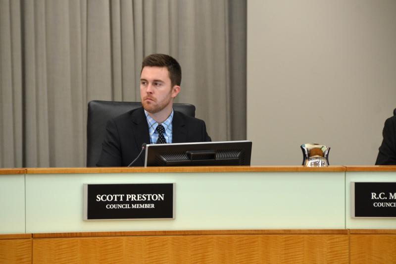Scott Preston says he will focus on his Town Council position instead of seeking the GOP county party chair's position.