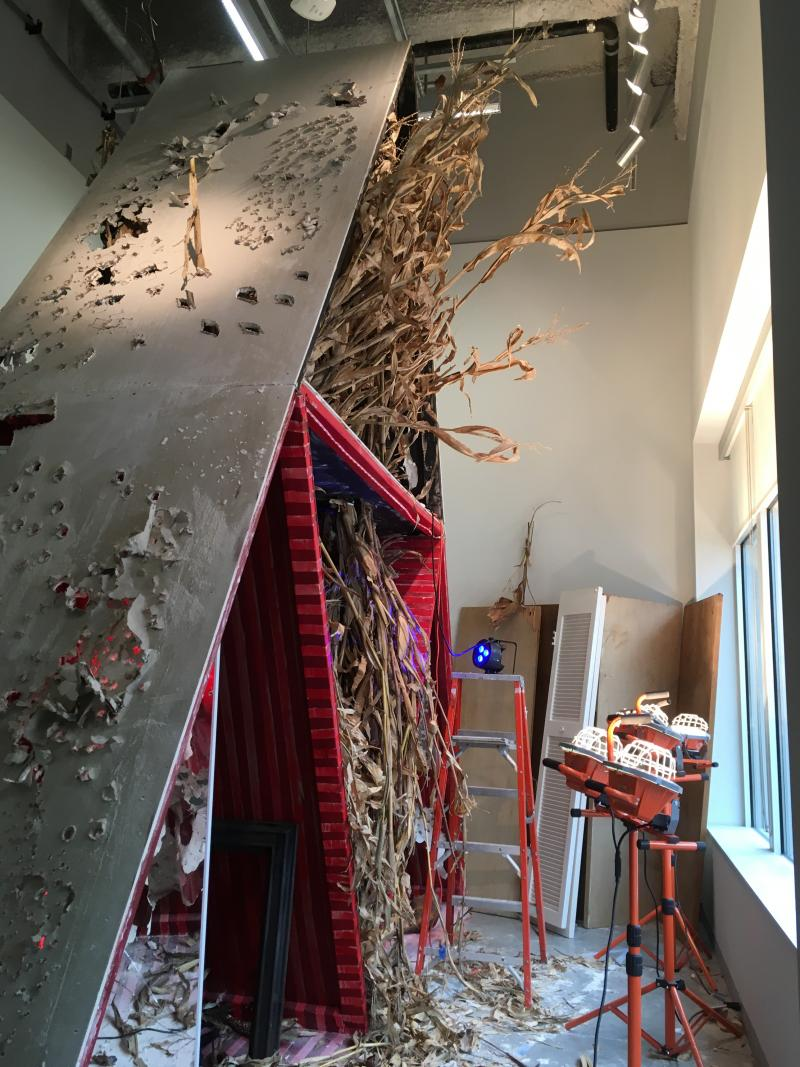 Abigail DeVille's new installation—Kindred, The Ties that Bind—in Strange Oscillations and Vibrations of Sympathy at University Galleries of Illinois State University.
