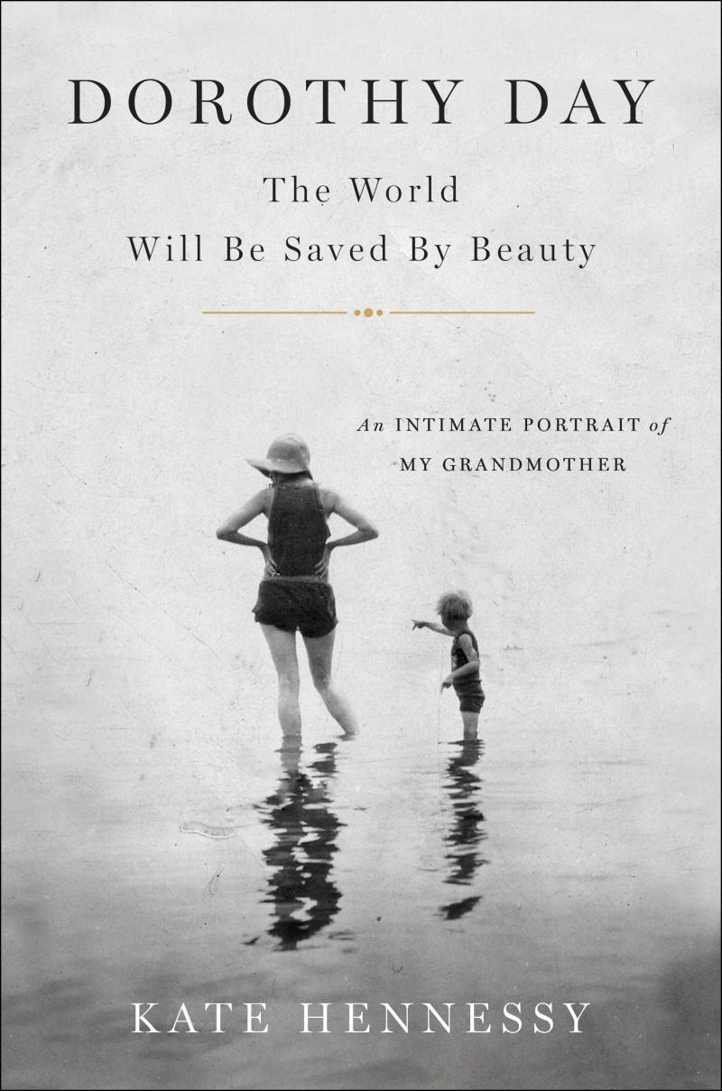 Day pictured on the cover of Kate Hennessy's new book with her daughter Tamar as a child.