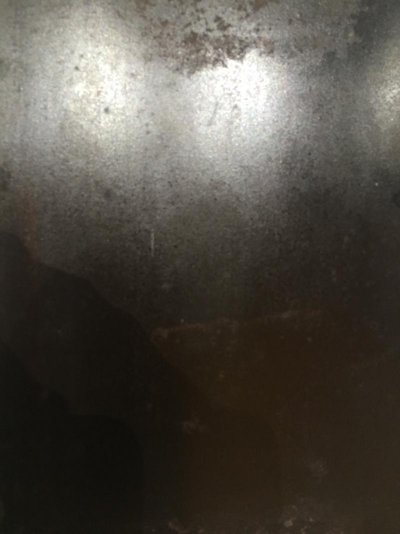 Close up view of the tintype. The various shadings invite open interpretation.