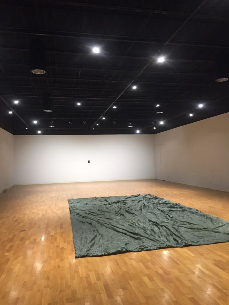 Bill Conger created this work just for this space in the Merwin Gallery.