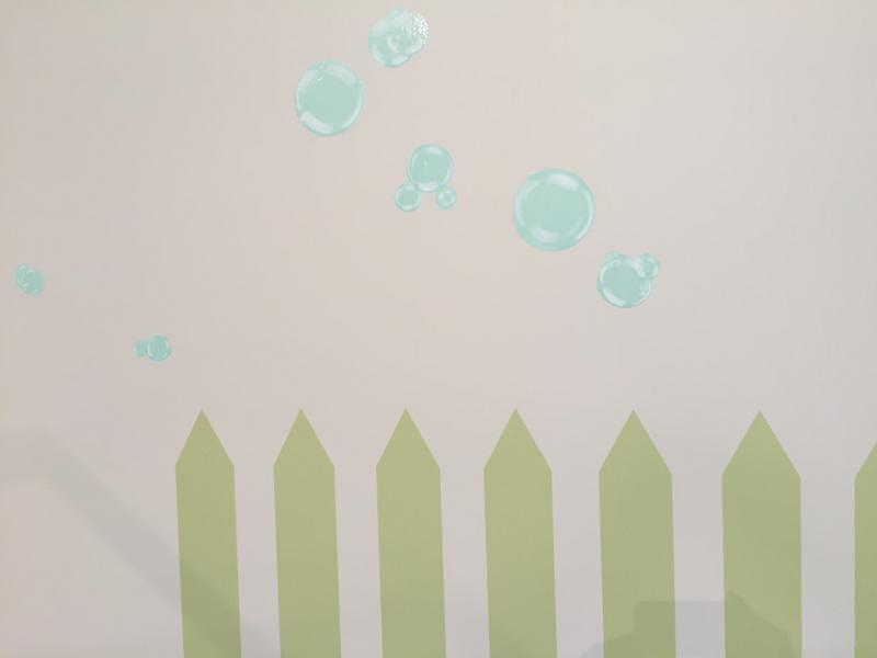 Allison and Jeff added picket fences and bubbles to the show.