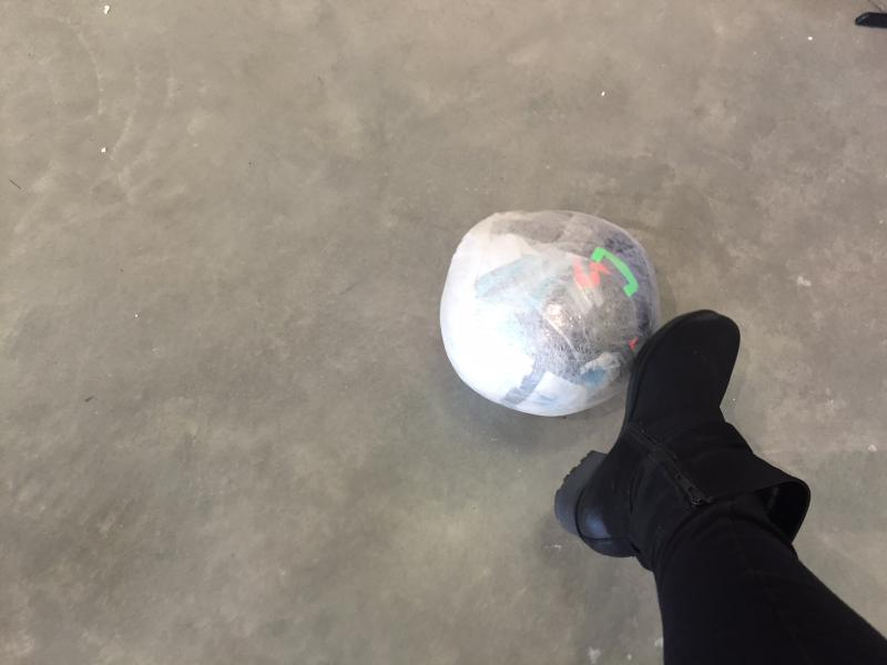 This soccer ball was created especially for the show.