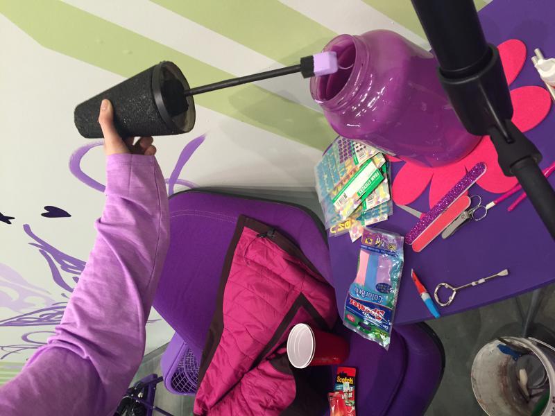 The color purple dominates Erin Hayden's addition to 'Subdivision.'