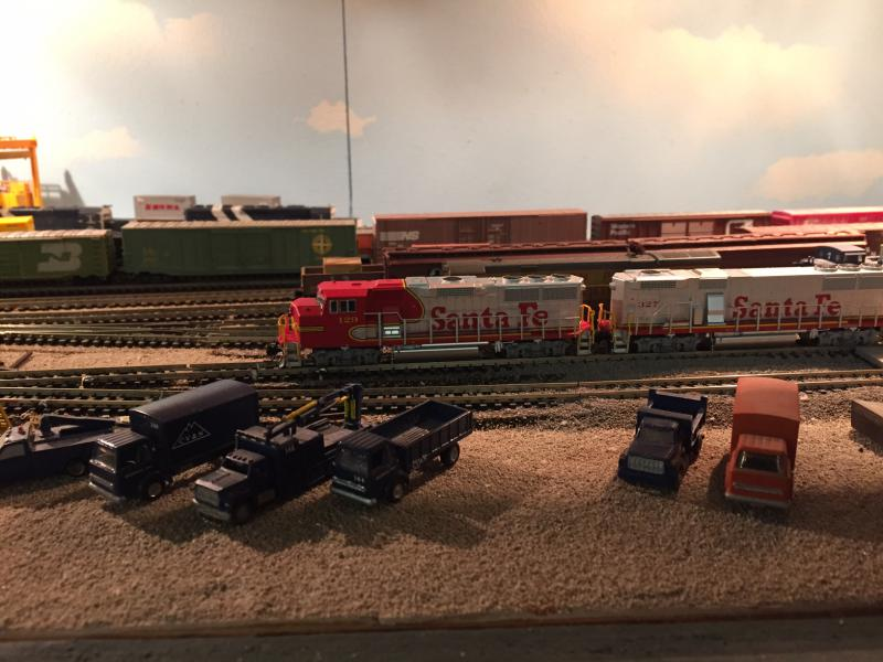 These model trains are pulling into the station that only exists in Dave Gentry's basement.