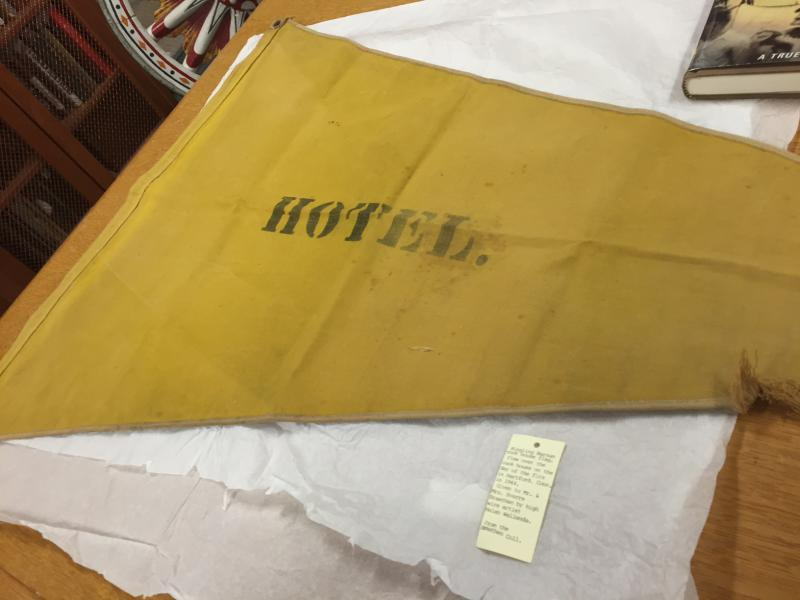 This pennant is a remnant of the tragic Hartford Circus Fire.