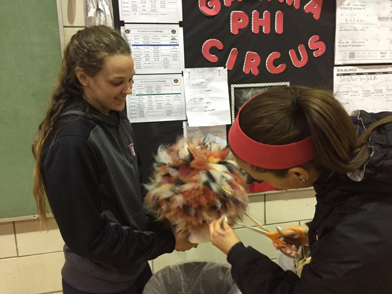 It's not just clowning and juggling.  Being a part of Gamma Phi means working on costumes and more.