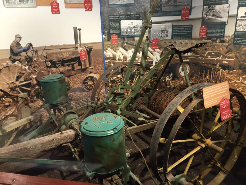 There's ample vintage farm equipment to tell the story of those who tilled the soil in McLean County.