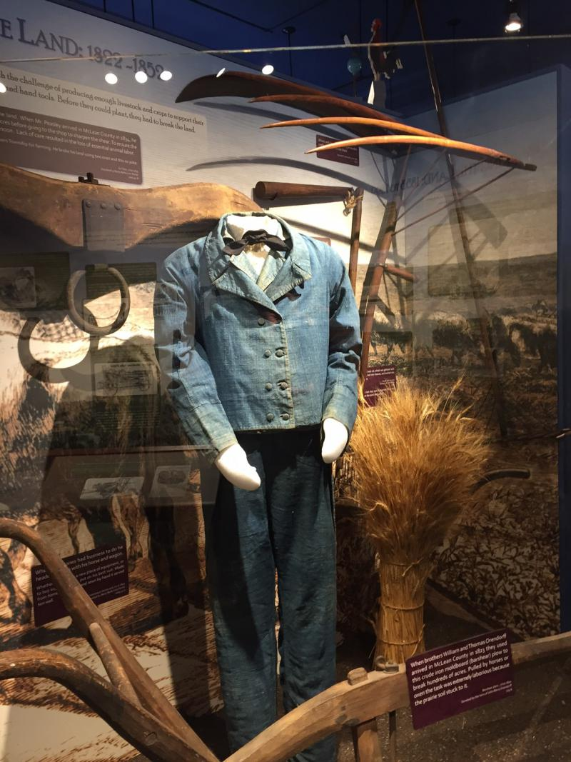 This home spun suit was a 'go to town' outfit, not something the farmer would wear to work in the fields.