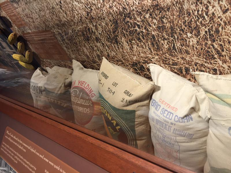 """Farming in the Great Corn Belt"" helps visitors understand how farming has changed over the centuries."