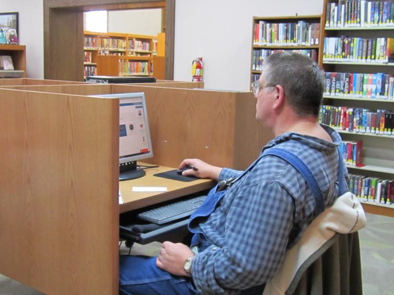 Even small, rural libraries are expected to have the latest computer technology, says Carlock Library director Linda Spencer.