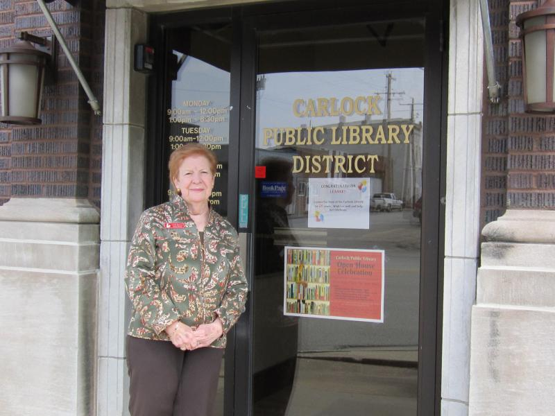 Linda Spencer, retiring director of the Carlock Public Library, says municipal libraries serve an important purpose in small communities.