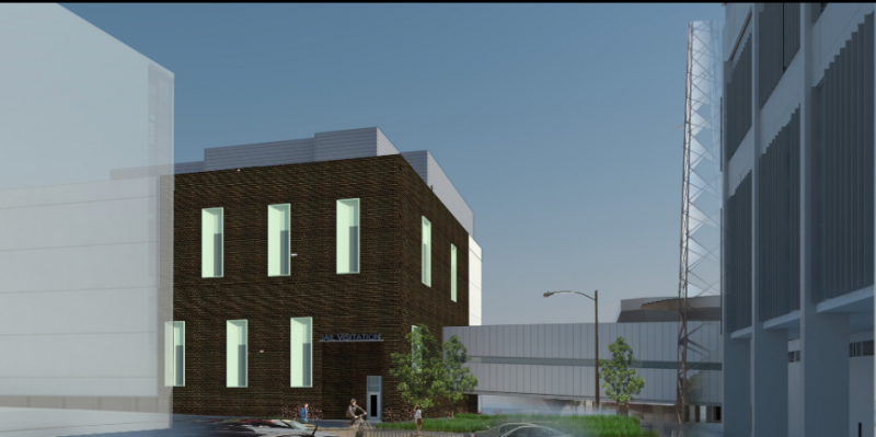 The McLean County Jail addition (pictured NW) will allow renovation of the original jail to include space for medical care.