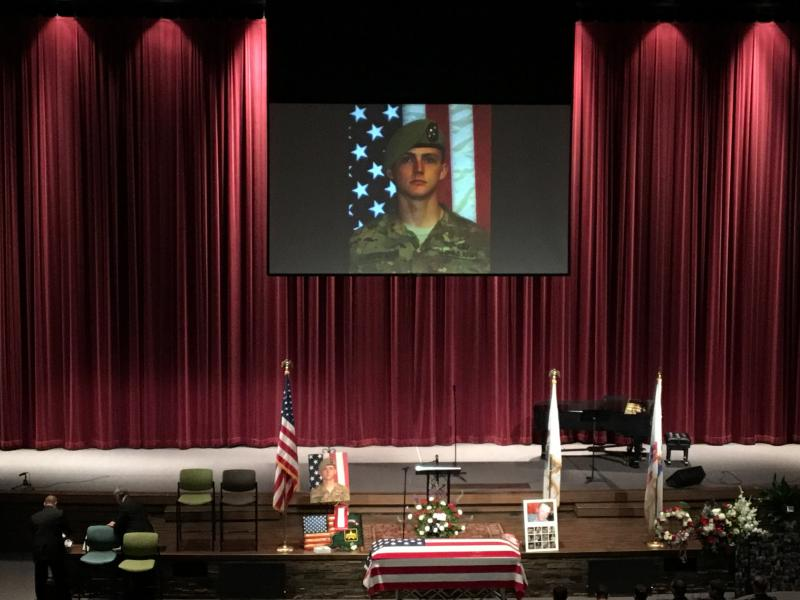 The celebration of life for Army Sgt. Josh Rodgers at Eastview Christian Church.