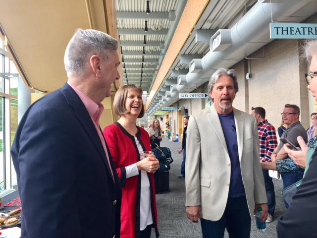 Former mayor with theater director and Actor & Alum Gary Cole