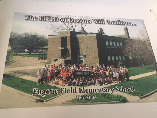 Photo of students who were in the last class to attend Eugene Field Elementary