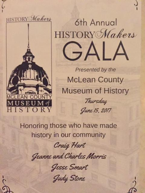 Sepia toned cover of the program for the History Makers Gala