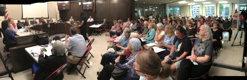 Advocates crowded the council chambers in Bloomington on July 11 as Aldermen heard about police and community relations.