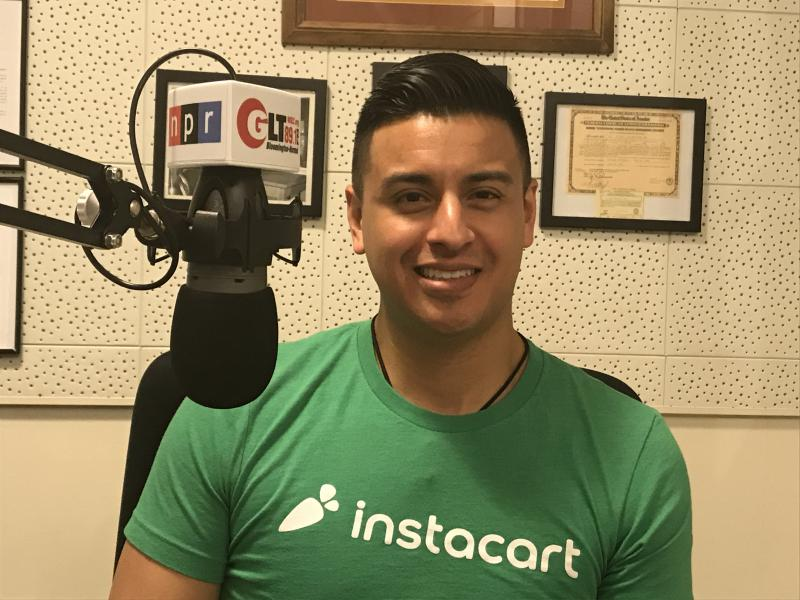 Victor Siavachay is an area manager for the grocery, alcohol, and drug store delivery service Instacart, which has begun operating in central Illinois.